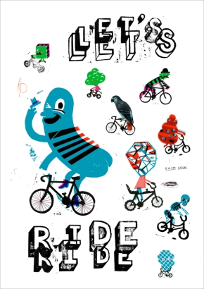 """Let's ride"" by Paul Bower"