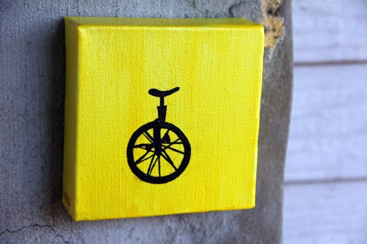 Unicycle art on etsy