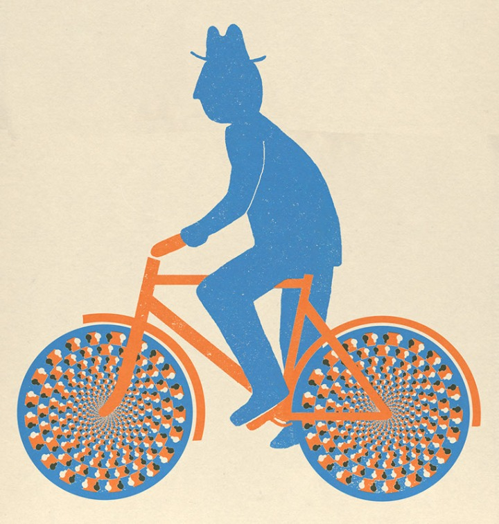 cyclist with hat