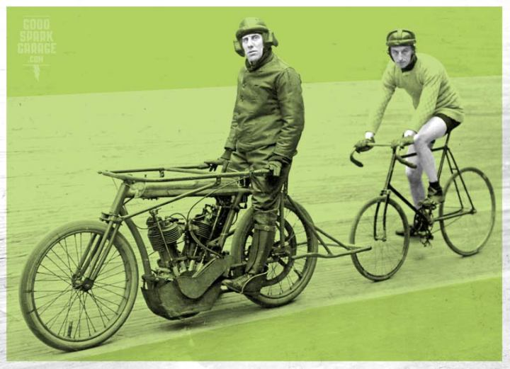 Motor packing cyclists