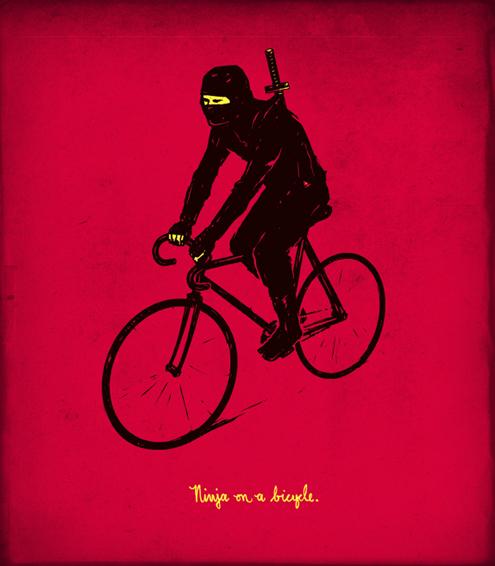 ninja cyclist