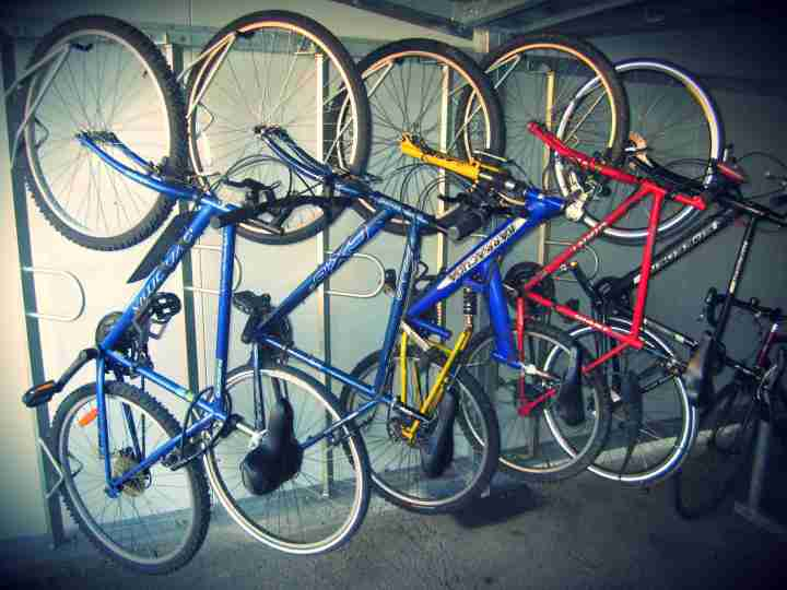 Bikes in shelter 1