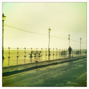 Penarth seafront in the rain