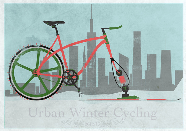 Urban winter cycling