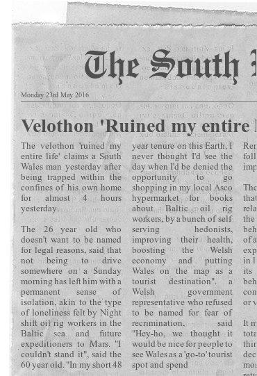 Velothon spoof