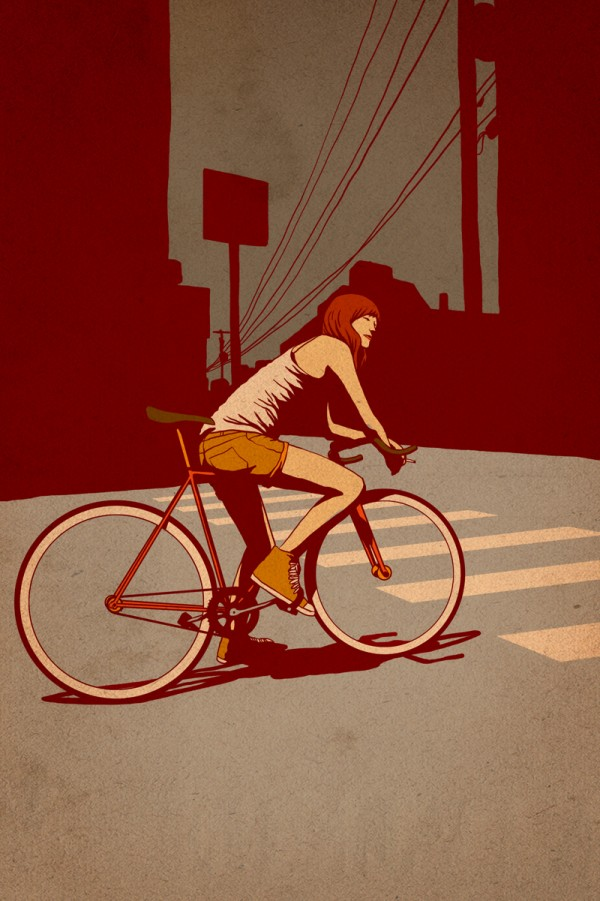 !Girl on fixie